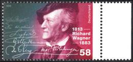 !a! GERMANY 2013 Mi. 3008 MNH SINGLE W/ Right Margin (a) -Richard Wagner - Ungebraucht