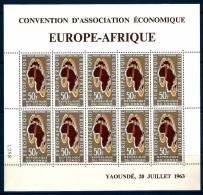 1963 CONGO  Posta Aerea Europa - Africa Minifoglio ** MNH - Repubblica Democratica Del Congo (1964-71)