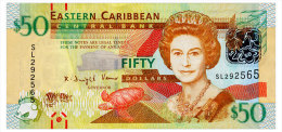 EAST CARIBBEAN STATES 50 DOLLARS ND(2012) Pick 54 Unc - East Carribeans