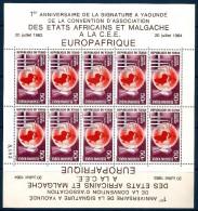1964 REPUBBLICA TCHAD  Posta Aerea Europa - Africa Minifoglio ** MNH - Ciad (1960-...)