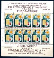 1964 CONGO  Posta Aerea Europa - Africa Minifoglio ** MNH - Repubblica Democratica Del Congo (1964-71)