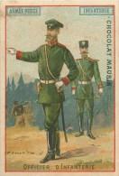 Russie - Armée Russe - ** Officier D'Infanterie ** - Carte Chromo (7 X 10 Cm) - Oir 2 Scans. - Russia
