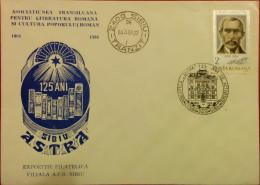 SIBIU,ASTRA,EXPO,REGISTERED,1986,SIMION BARITIU,SPECIAL POSTMARK,SPECIAL COVER,ROMANIA - Roumanie