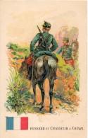 Hussards Et Chasseur à Cheval. Carte Illustrée - Régiments