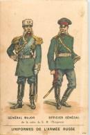 Russie - Armée Russe - ** Général Major, Officier Général De La Suite De S.M. L'Empereur** - Carte Chromo (7 X 10,5 Cm). - Russia