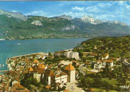V40 / DEPT 74 CPSM ANNECY PANORAMA SUR LE LAC  VOYAGEE VOIR DOS - Annecy