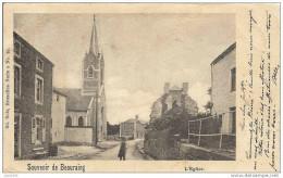 BEAURAING ..-- Nels 8 , N° 28 . L ´ Eglise . 1900 Vers UCCLE ( Mr Jean - Baptiste CARRON ) . Voir Verso . - Beauraing