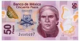 MEXICO SERIES B 50 PESOS 2012 Pick 123Ab Unc - Mexico