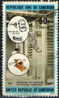 CAMERUN - 1976 - TELEFONO DI GRAHAM BELL - CENTENARIO - USED - Kamerun (1960-...)