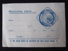 HOTEL PENSION MOTEL INN TROCADERO NECOCHEA SALVADOR BUENOS AIRES ARGENTINA DECAL LUGGAGE LABEL ETIQUETTE AUFKLEBER - Hotel Labels