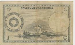 BURMA P. 34 1 R 1948 F/VF - Myanmar