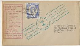 Tonga Cover Used Niuafoou 1934 SS City Of L.A. Matson Line Oceanic Cruise Marquises Tahiti Fiji Samoa Tin Can Caledonia - Tonga