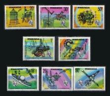 RWANDA 1977 - U.I.T., journ�e mondiale des t�l�communications - 8 val Neuf // Mnh