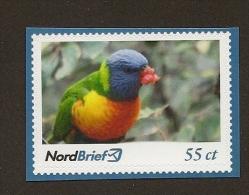 Privatpost - NordBrief  Allfarblori (Trichoglossus Haematodus) - Perroquets & Tropicaux