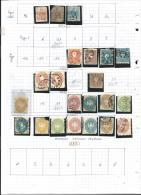 Lombardo-Venice    1  Page   With Stamps          O /   *        Cancelled /   Mint - Lombardo-Veneto