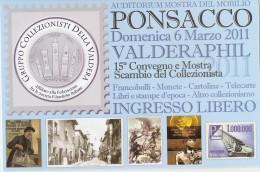 W-PONSACCO-VALDERAPHIL-CONVEGNO DEL COLLEZIONISTA 6 MARZO 2011 - Bourses & Salons De Collections