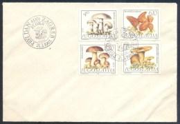 Yugoslavia 1983 Cover: Flora Mushrooms Boletus Edulis, Cantharellus Cibarius, Morcheklla Vulgaris, Agaricus Campestris - Pilze