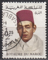 Marocco, 1968/74 - 25c King Hassan II - Nr.175 Usato° - Marocco (1956-...)