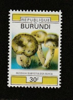 9] 1 Timbre 1 Stamp ** 2 SCANS Burundi Champignon Mushroom Couleurs Manquantes Missing Colours - Rwanda