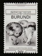 9] 1 Timbre Stamp ** 2 SCANS Burundi Champignon Mushroom Unwedged Perforation Décalée Pas De Couleurs No Colours - Rwanda