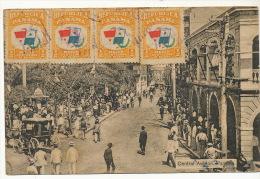 Panama Central Avenue 4 Stamps To Cuba Cienfuegos - Panama