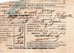 1874  MILANO - FERROVIA DELL´ALTA ITALIA - Italia