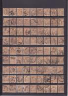 UN LOT DE 81 TIMBRES OBLITéRéS 30C BRUN-JAUNE TYPE II N° 80 YVERT ET TELLIER 1881 - 1876-1898 Sage (Tipo II)