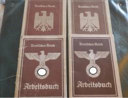 4x Arbeitsbuch 3. Reich - 1939-45