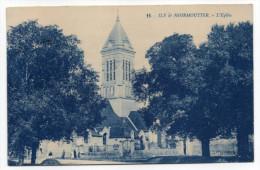 Ile De Noirmoutier--NOIRMOUTIER--1923--L'église (petite Animation)  N° 11 éd Artaud---carte Sépia Bleu - Noirmoutier