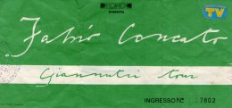 BIGLIETTO concerto Fabio Concato  Giannutri tour 1990