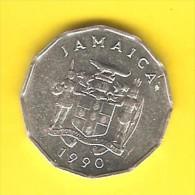 JAMAICA   1 CENT  1990  (KM # 64) - Jamaica