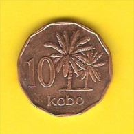 NIGERIA   10 KOBO  1991  (KM # 12) - Nigeria
