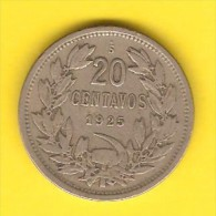 CHILE   20 CENTAVOS  1925  (KM # 167.1) - Chile
