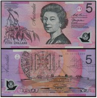 AUSTRALIA FIVE (5) Dollars 1998 - POLYMER - Decimal Government Issues 1966-...
