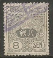 Japan   1919   Sc#136  8s Used   2016 Scott Value $9 - Japan