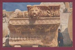 LIBAN 220515 - BAALBEK - Les six colonnes du grand temple - en bas : le temple de Bacchus -