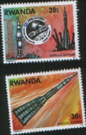 RWANDA 1976 SPACE COOPERATION USA - URSS APOLLO SOYOUZ COOPERAZIONE SPAZIALE MNH