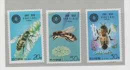 KorN Mi.Nr.1929-31/  KOREA -  Bienen (bees, Abeja) ** - Korea (Nord-)