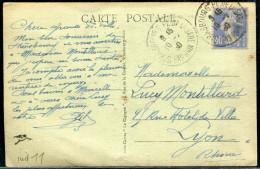 FRANCE - ROULETTE DU N° 237 DENTS MASSICOTÉS / CP DE STRASBOURG LE 10/2/1930 - TB - Roulettes