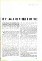 IL PALAZZO DEI MEDICI A FIRENZE  1962 ARTICOLO RITAGLIATO DA GIORNALE - Victorian Die-cuts