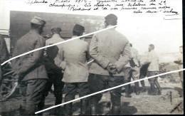 SOLDATS POILUS     1914  RETIRAGE D A PRES PLAQUE PHOTO  PRO - Guerre, Militaire