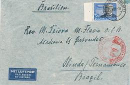 GREVENBRÜCK  - 25.7.1938 , Deutsche Luftpost Europa-Südamerika Nach Olinda / Paramaribo - Luftpost
