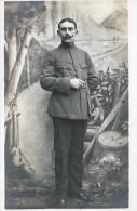SOLDATS FRANCAIS  PRISONNIERS 1914  RETIRAGE D A PRES PLAQUE PHOTO  PRO - Guerre, Militaire