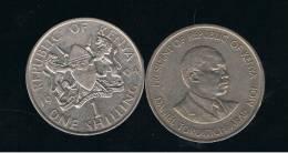 KENYA -  1 Shilling  KM20 -  Ver Años - Looks Years - Kenya