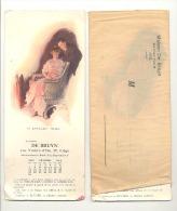 LIEGE - Lot De 2 Buvards Publicitaires Avec Un Mois Du Calendrier 1915 Maison De Bruyn - Illustrateur Bleit, Brett, ? - Textile & Vestimentaire