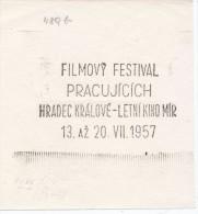 "J1546 - Czechoslovakia (1945-79) Control Imprint Stamp Machine (R!): Workers Film Festival - Summer Cinema ""Peace"" - Cinema"