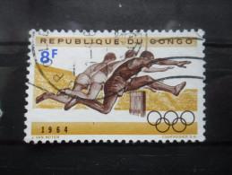 République Du Congo N°547 JEUX OLYMPIQUES De TOKYO 1964 Course De Haies Oblitéré - Summer 1964: Tokyo