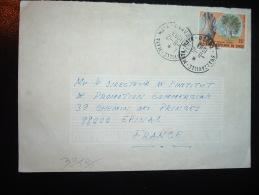 LETTRE POUR FRANCE TP ARBRE DE BRAZZA 75F OBL.8-12-1983 BRAZZAVILLE - MAYA - MAYA - Oblitérés
