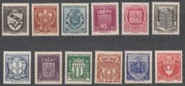 France 1941 Yvert#526-537 Mint Never Hinged (sans Charnieres) - France