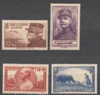 France 1940 Yvert#454-457 Mint Never Hinged (sans Charnieres)